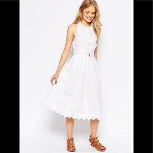 Asos white Broderie picnic dress